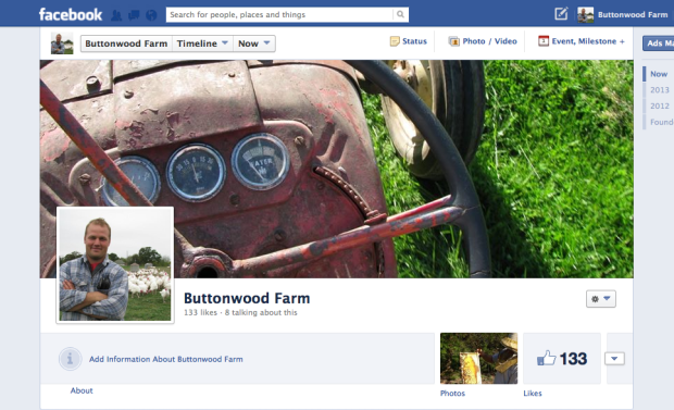 Buttonwood Farm's Facebook Page